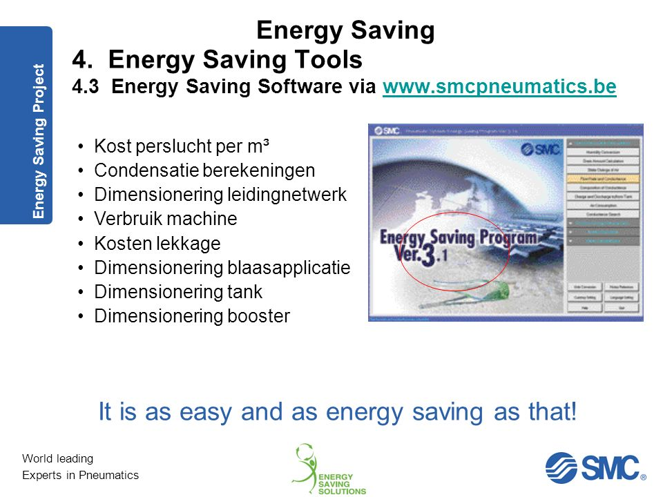 It is as easy and as energy saving as that!