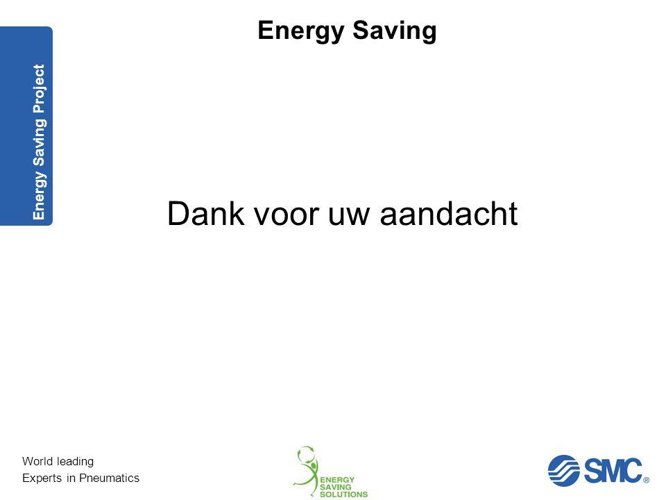 Energy Saving Project Dank voor uw aandacht