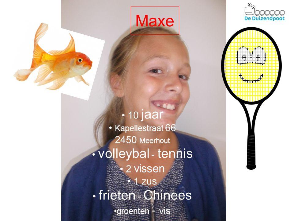 Maxe 10 jaar Kapellestraat 66 2450 Meerhout volleybal - tennis