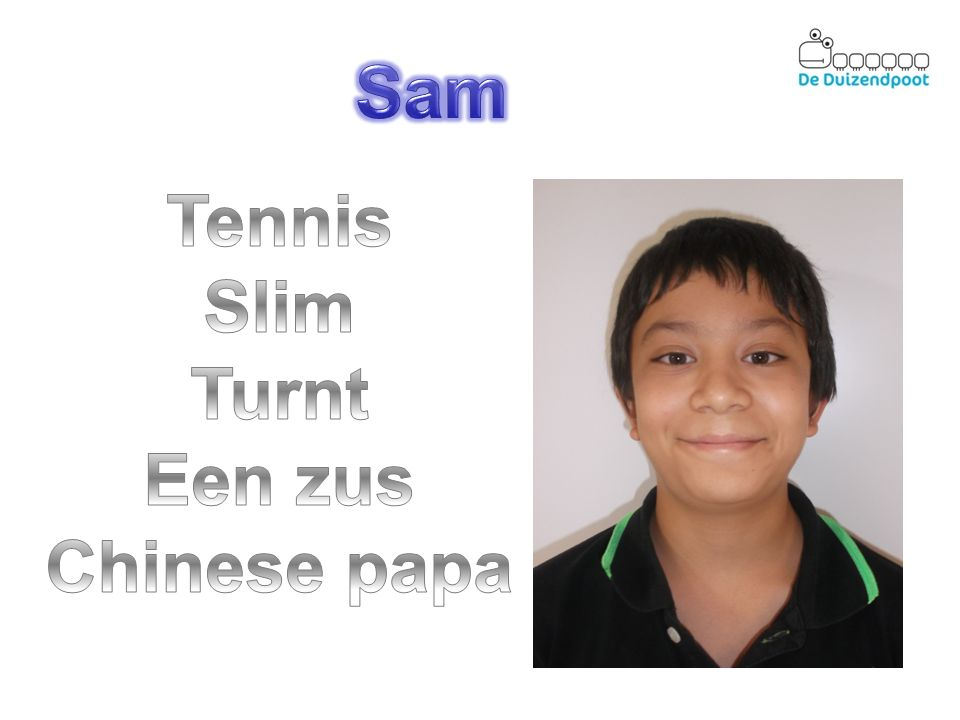 Sam Tennis Slim Turnt Een zus Chinese papa