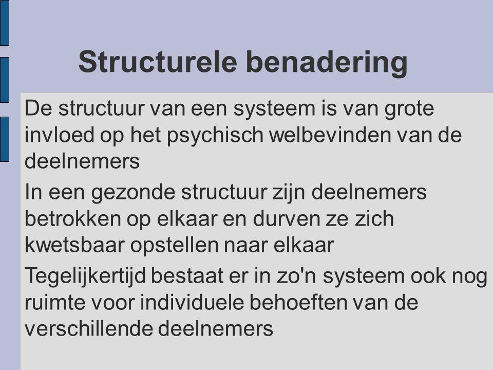 Structurele benadering