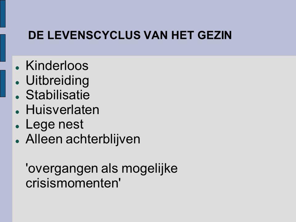 DE LEVENSCYCLUS VAN HET GEZIN