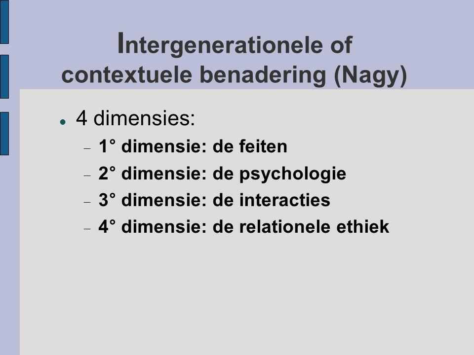 Intergenerationele of contextuele benadering (Nagy)