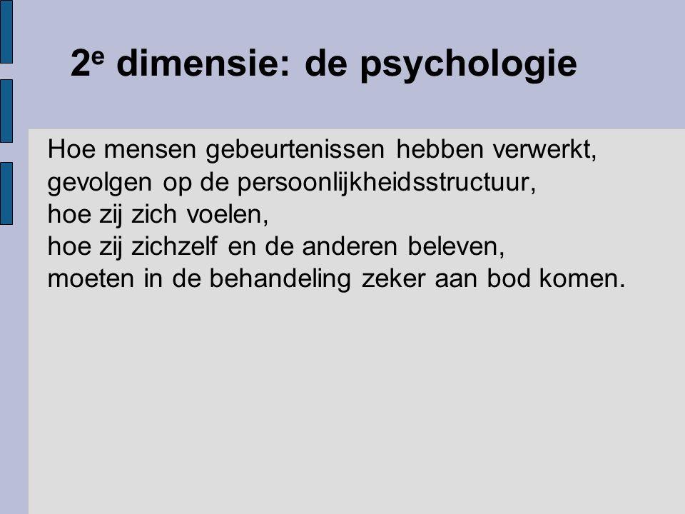 2e dimensie: de psychologie