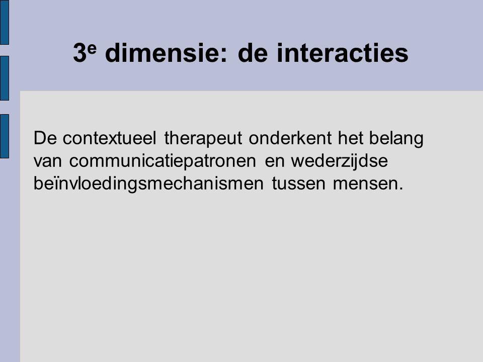 3e dimensie: de interacties