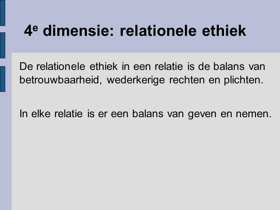 4e dimensie: relationele ethiek