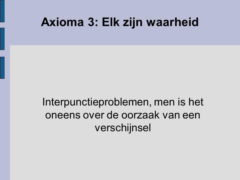 Axioma 3: Elk zijn waarheid