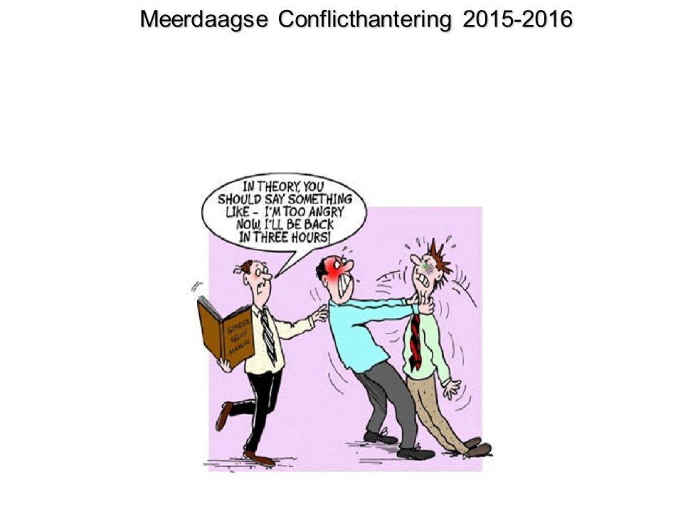 Meerdaagse Conflicthantering 2015-2016