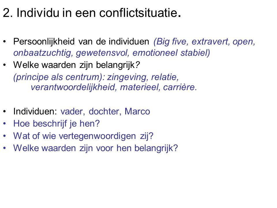 2. Individu in een conflictsituatie.