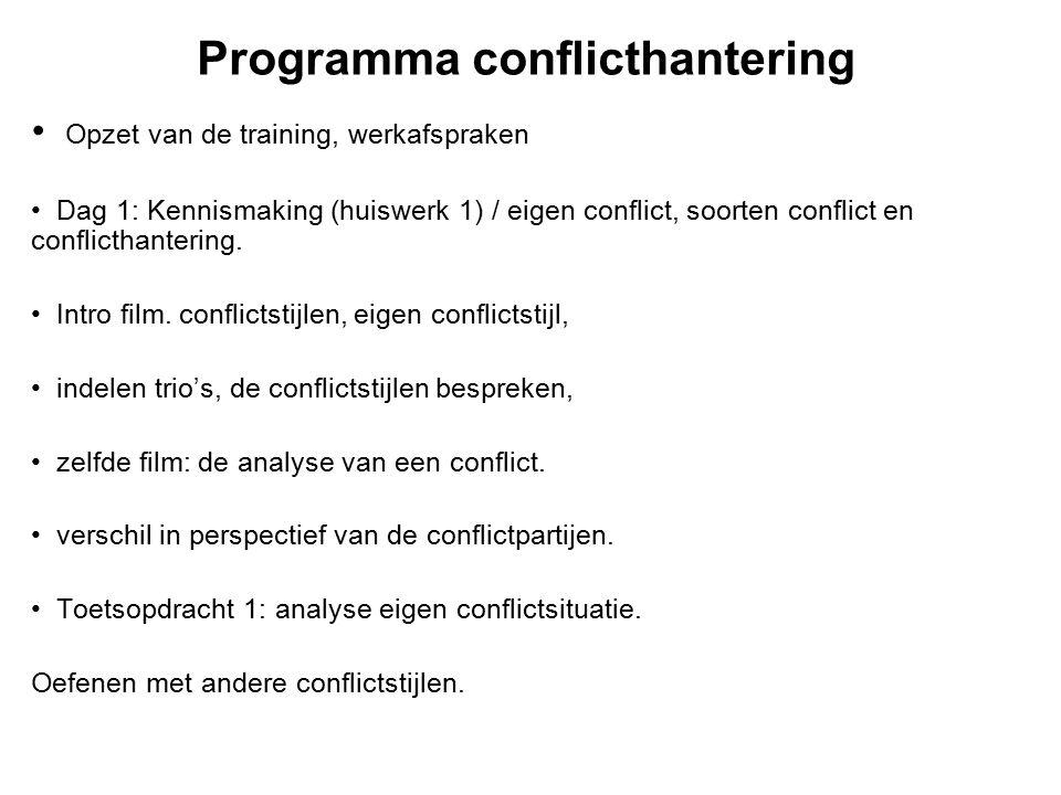 Programma conflicthantering