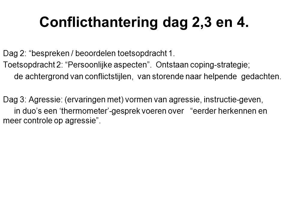 Conflicthantering dag 2,3 en 4.