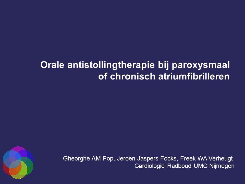 Orale antistollingtherapie bij paroxysmaal of chronisch atriumfibrilleren