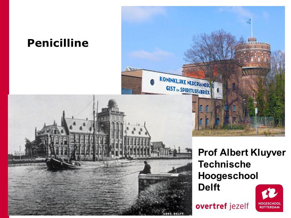 Penicilline Prof Albert Kluyver Technische Hoogeschool Delft