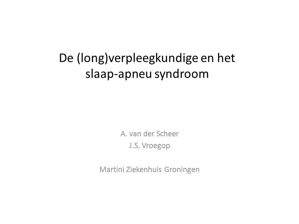 De (long)verpleegkundige en het slaap-apneu syndroom