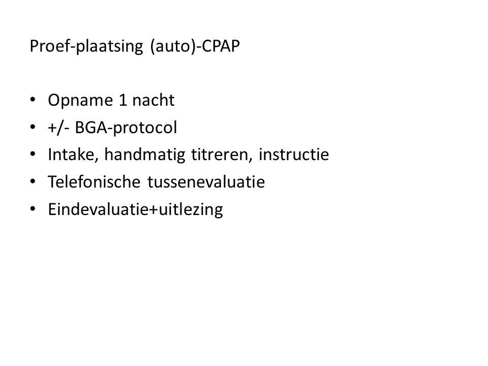 Proef-plaatsing (auto)-CPAP