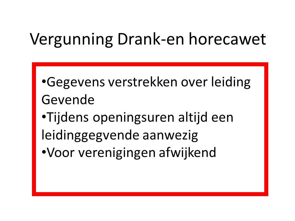 Vergunning Drank-en horecawet