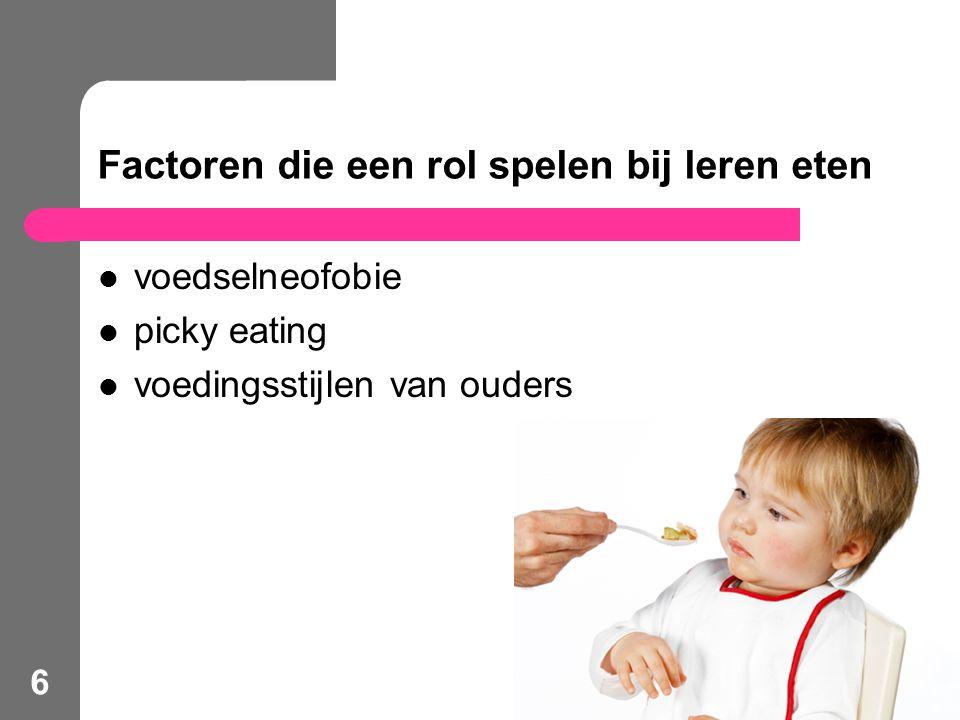 Factoren die een rol spelen bij leren eten