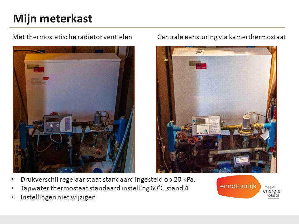 Mijn meterkast. Met thermostatische radiator ventielen Centrale aansturing via kamerthermostaat.