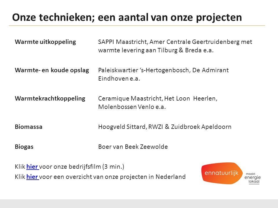 Onze technieken; een aantal van onze projecten