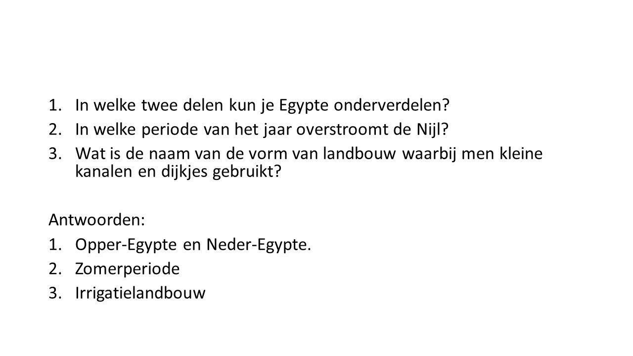 In welke twee delen kun je Egypte onderverdelen