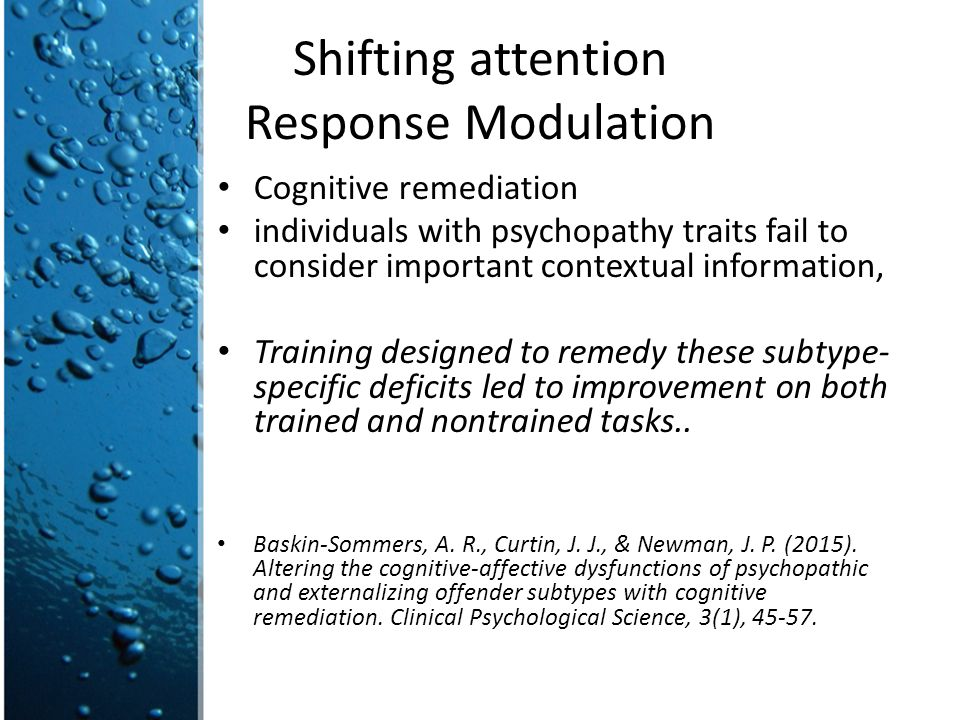 Shifting attention Response Modulation