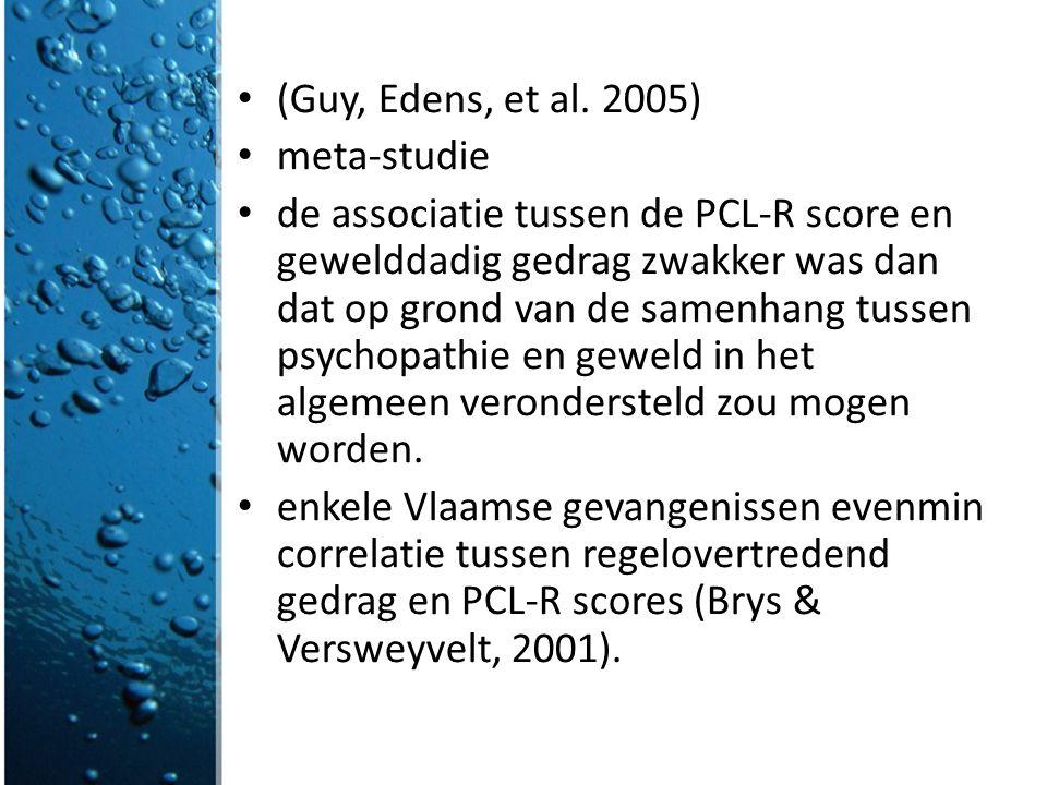 (Guy, Edens, et al. 2005) meta-studie.
