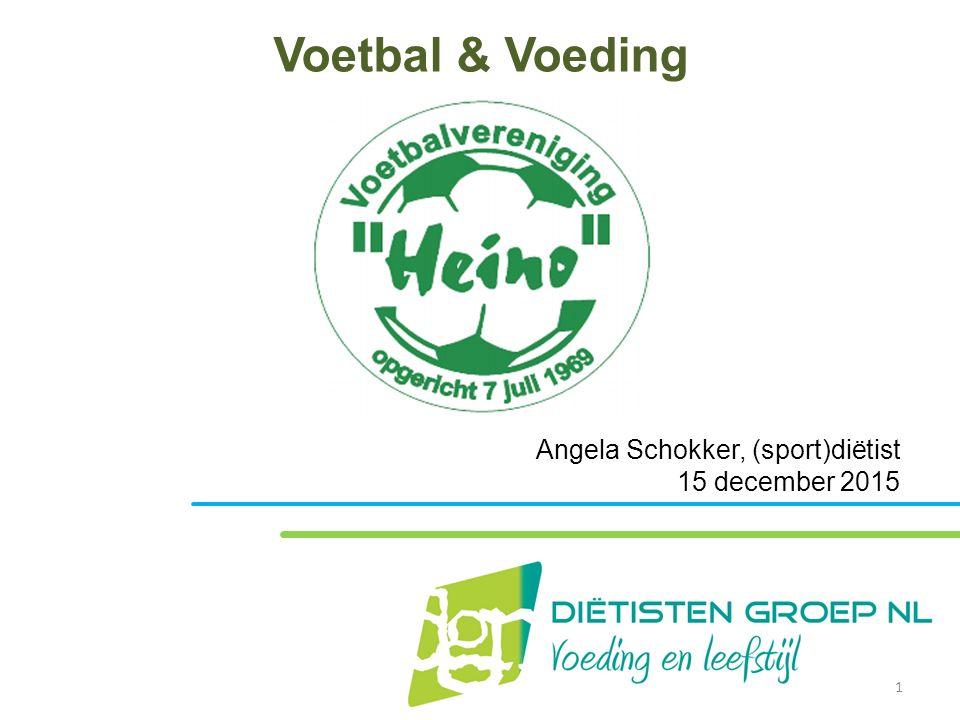 Voetbal & Voeding Angela Schokker, (sport)diëtist 15 december 2015