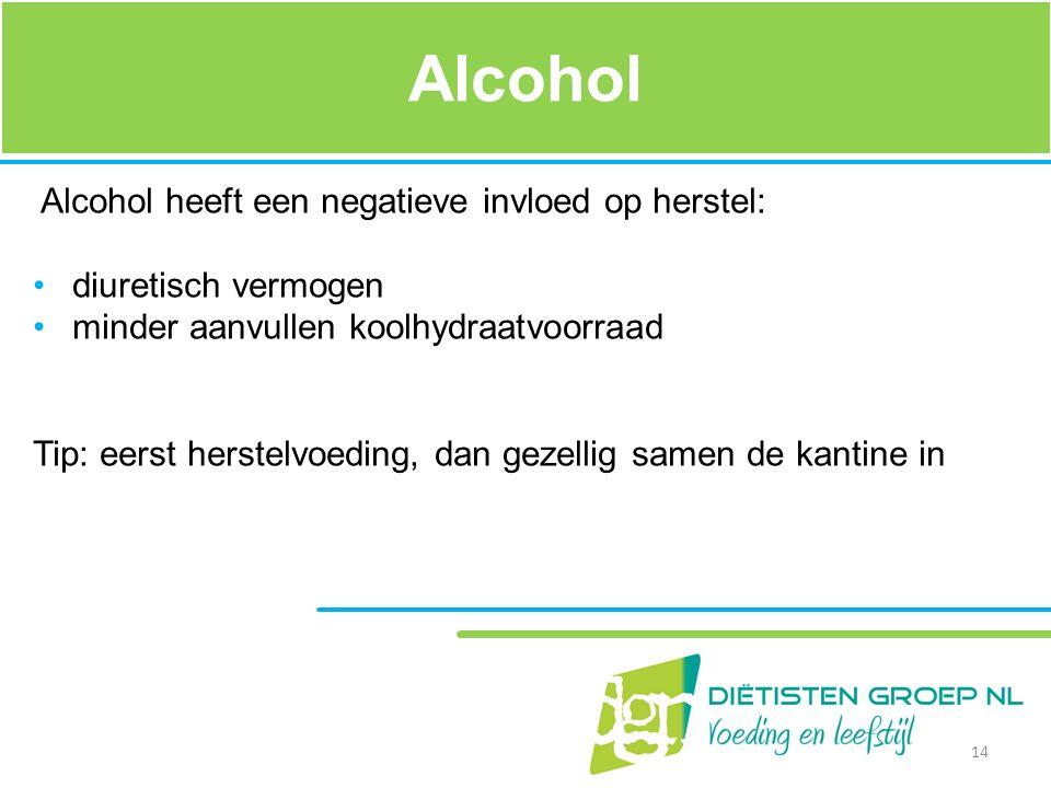 Alcohol Alcohol heeft een negatieve invloed op herstel:
