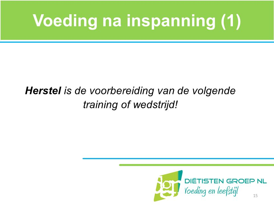 Voeding na inspanning (1)