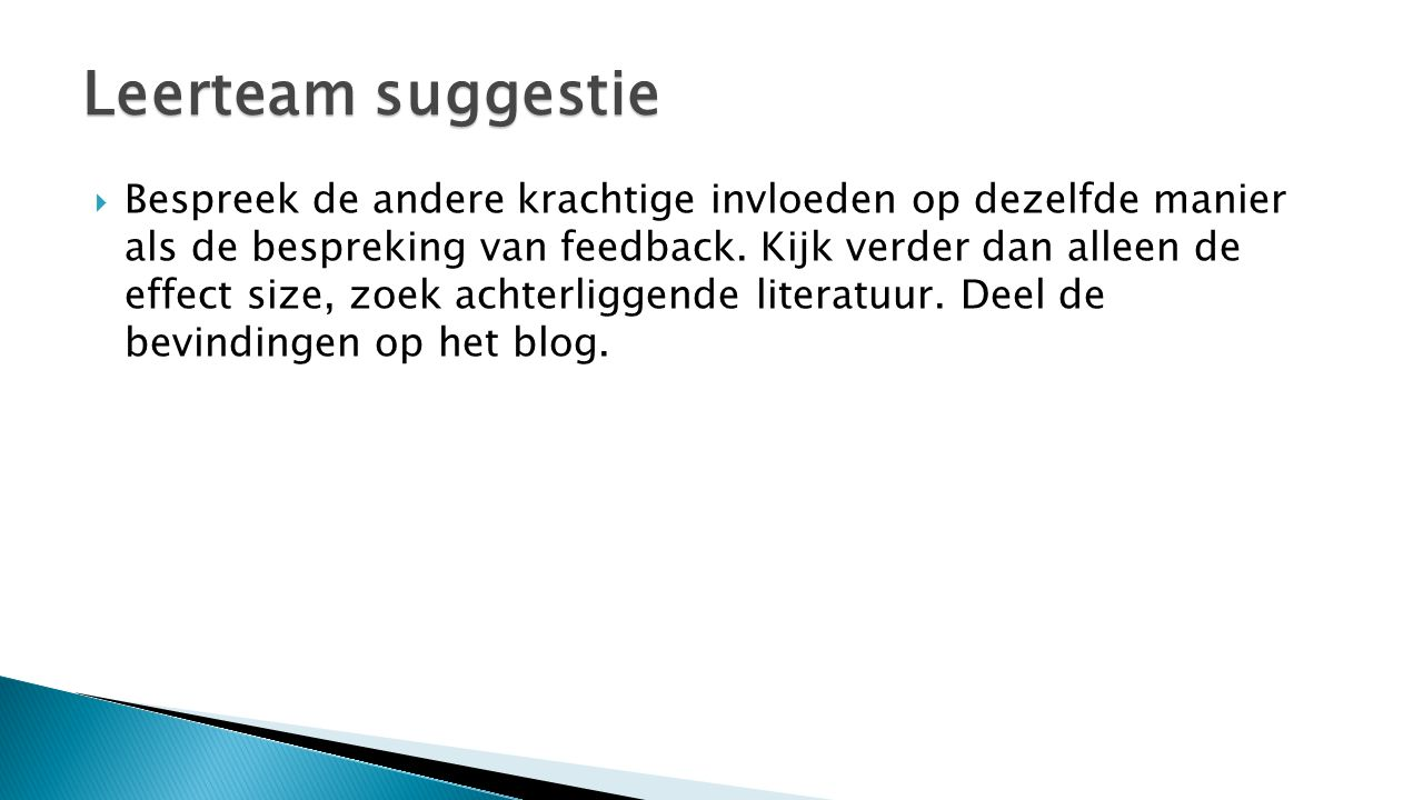Leerteam suggestie