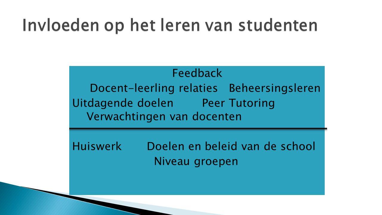 Invloeden op het leren van studenten
