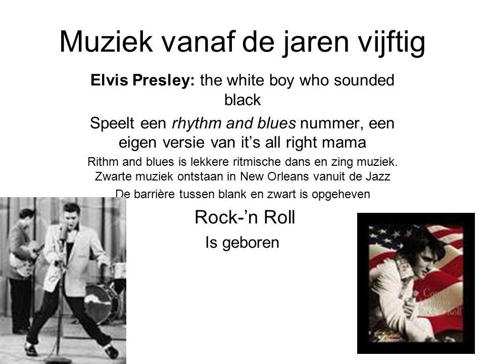 Muziek vanaf de jaren vijftig
