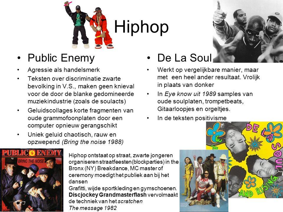 Hiphop Public Enemy De La Soul Agressie als handelsmerk