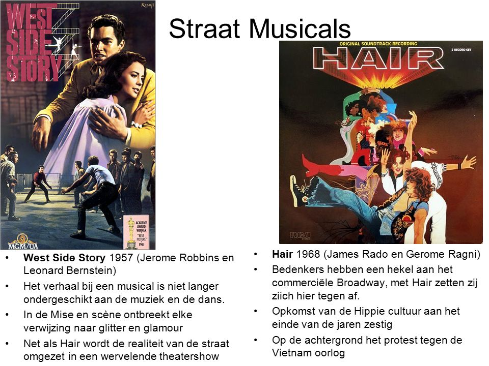 Straat Musicals Hair 1968 (James Rado en Gerome Ragni)