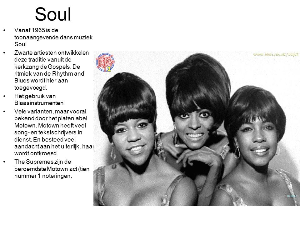 Soul Vanaf 1965 is de toonaangevende dans muziek Soul