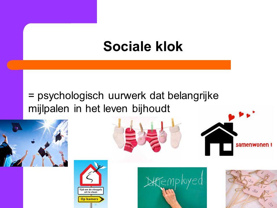 Sociale klok = psychologisch uurwerk dat belangrijke mijlpalen in het leven bijhoudt