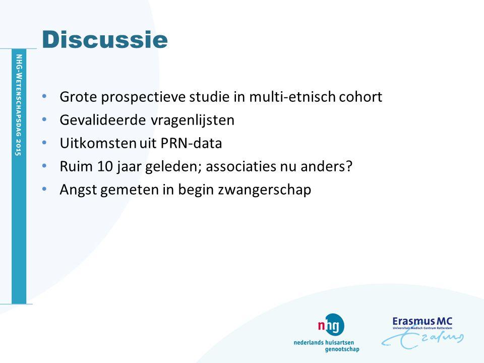 Discussie Grote prospectieve studie in multi-etnisch cohort