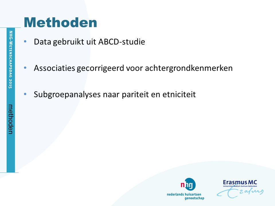 Methoden Data gebruikt uit ABCD-studie
