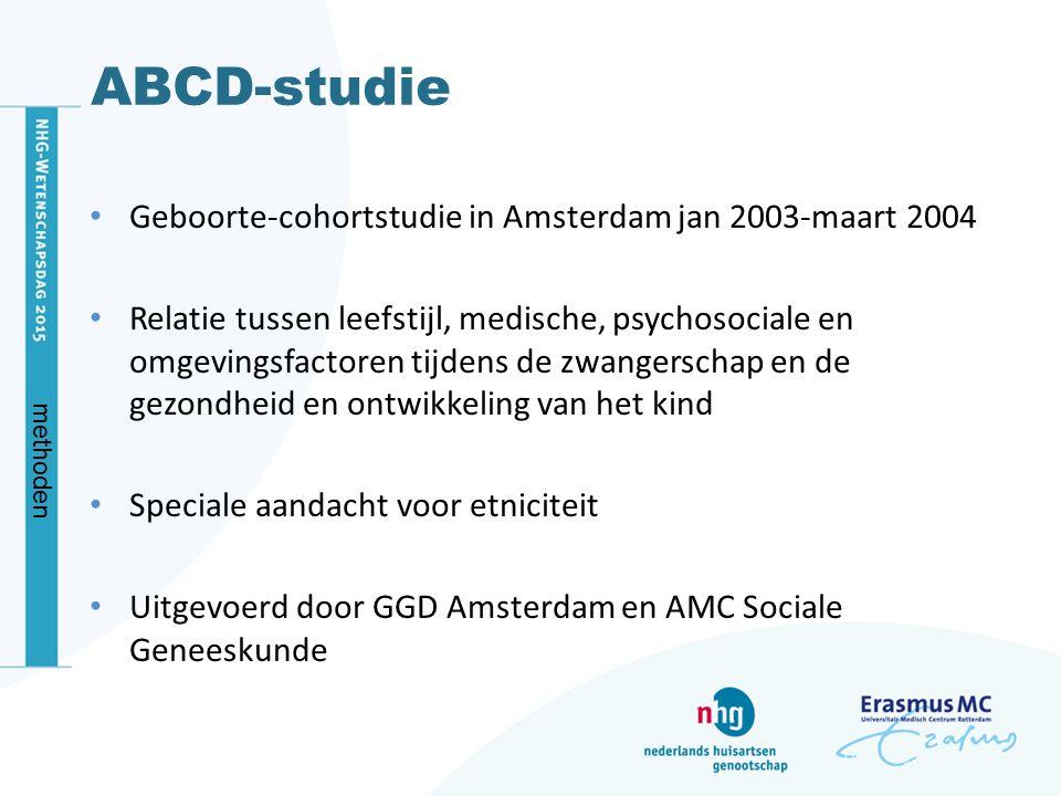 ABCD-studie Geboorte-cohortstudie in Amsterdam jan 2003-maart 2004