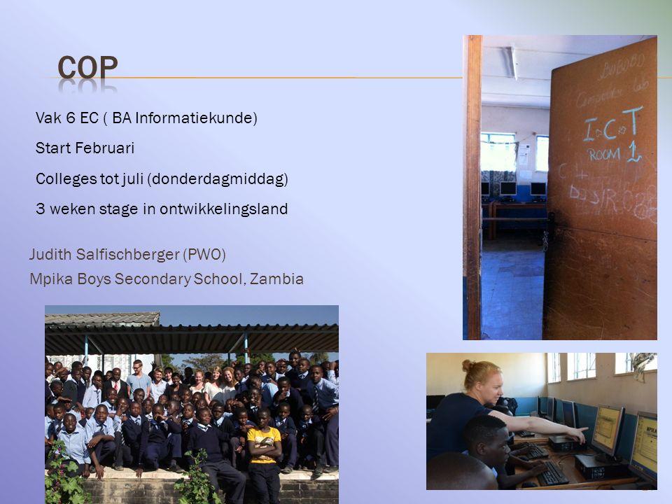 COP Vak 6 EC ( BA Informatiekunde) Start Februari