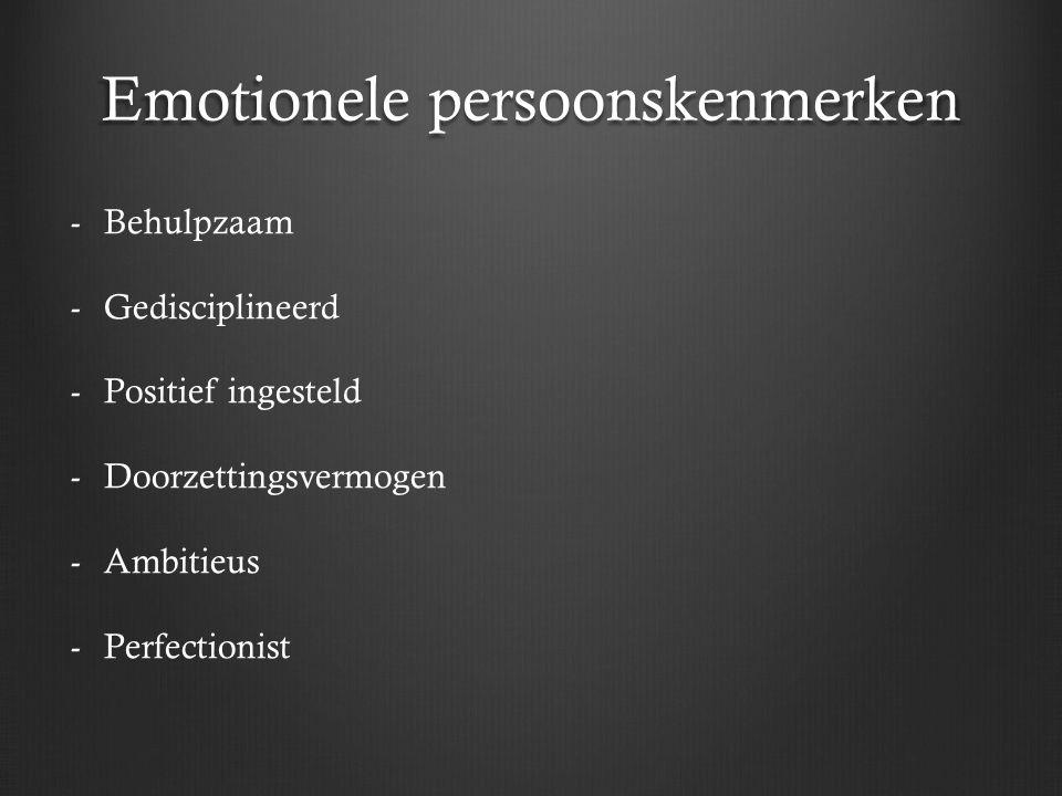 Emotionele persoonskenmerken