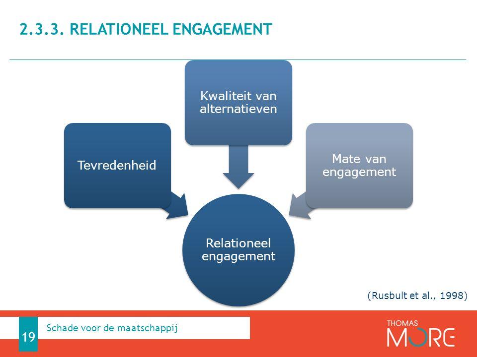 2.3.3. Relationeel engagement