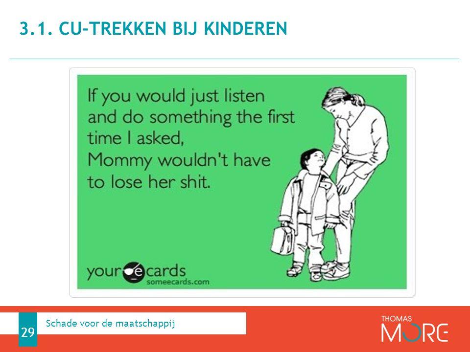 3.1. CU-trekken bij kinderen