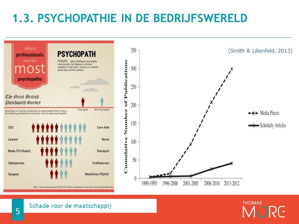 1.3. Psychopathie in de bedrijfswereld