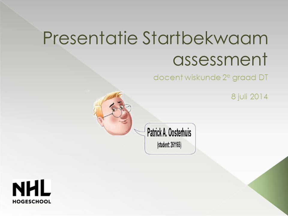 Presentatie Startbekwaam assessment