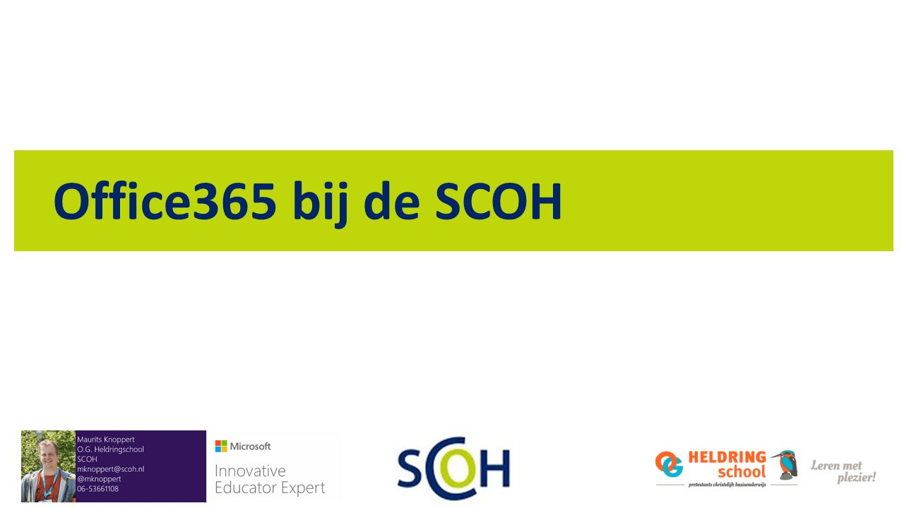Office365 bij de SCOH