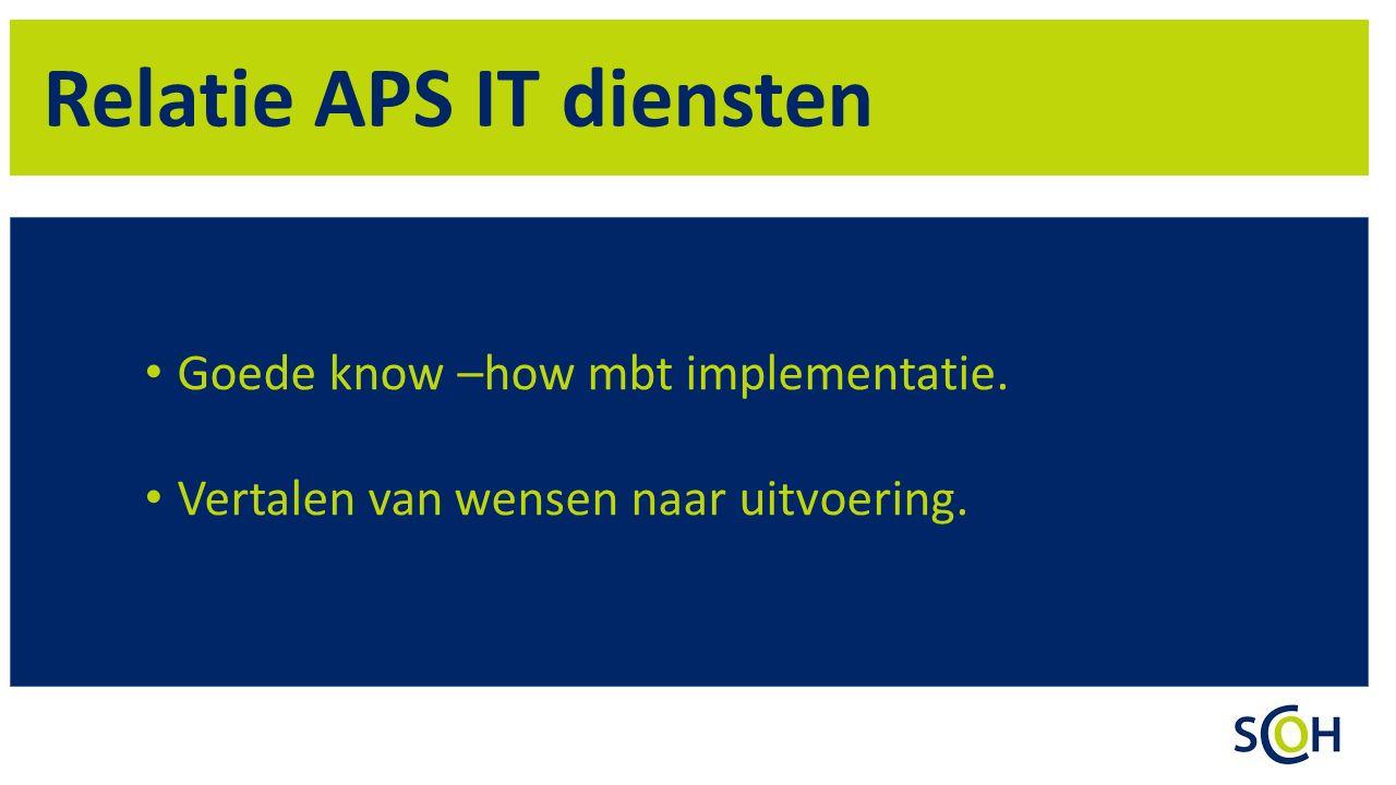 Relatie APS IT diensten