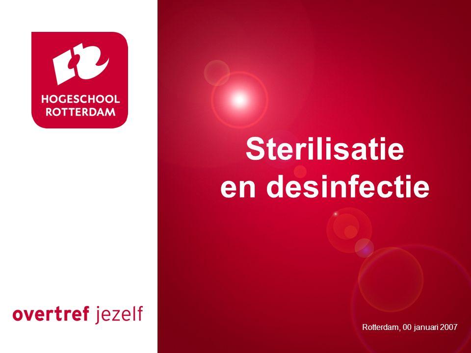 Sterilisatie en desinfectie Presentatie titel