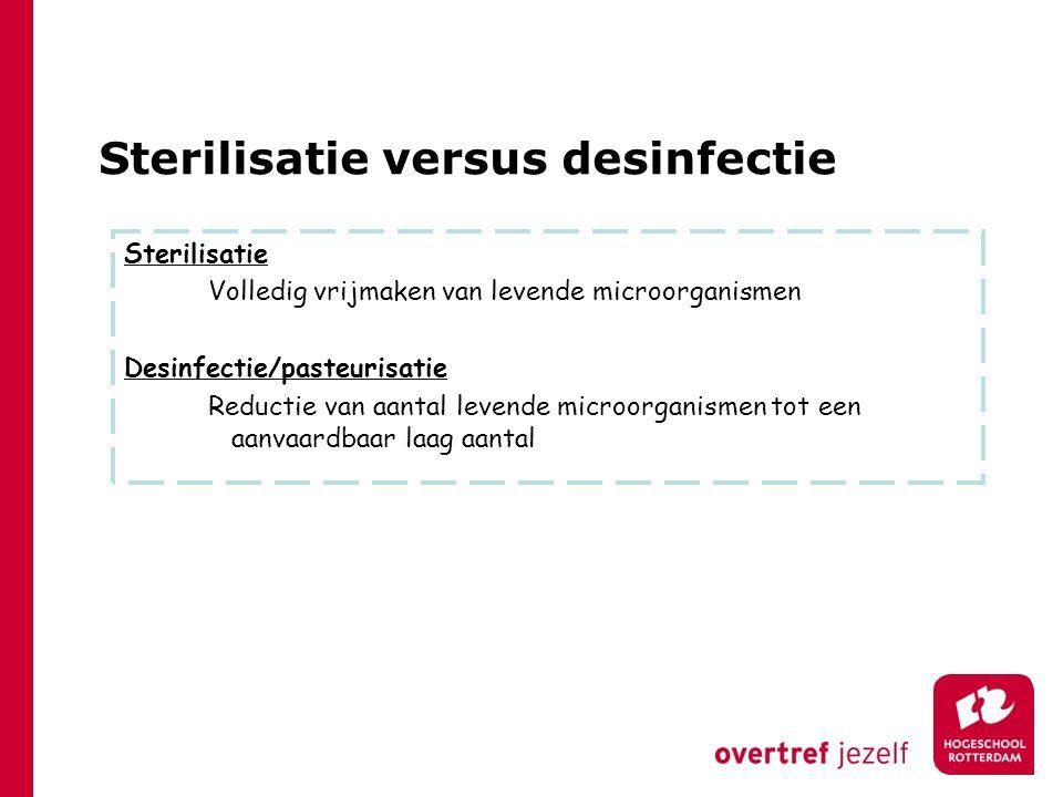 Sterilisatie versus desinfectie