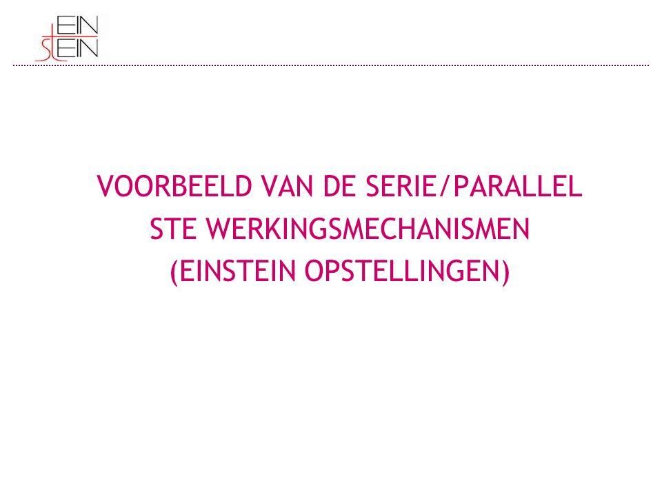 VOORBEELD VAN DE SERIE/PARALLEL STE WERKINGSMECHANISMEN